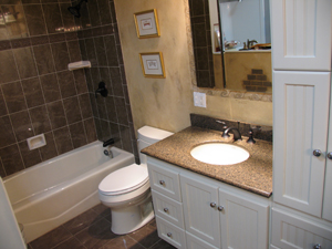 Here is a glance at projected costs for a basic, mid- to upper-range and De Luxe bathroom remodel.